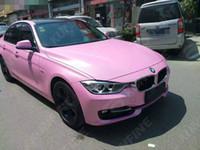 rosa glitter vinyl großhandel-Car Styling Wrap Matt Glitter Pink-Auto-Vinylfilm-Körper-Aufkleber-Auto-Verpackung mit Luft-freie Luftblase für Vehiche 1.52 * 20M / Roll-KF-F1029