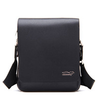 Wholesale Men Leather Handbag Briefcase Men Laptop Shoulder Boy Bag Messenger Bag