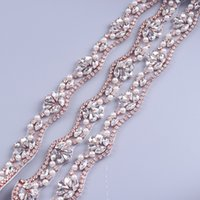 Yanstar Gold Crystal Rhinestone Trim By The 5 Yard Wholesale Trim nuziale Crystal Trim cucire su strass Applique Cupchain