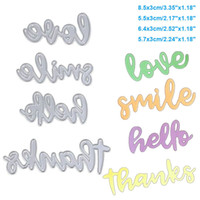 Smile Letters DIY Metal Cutting Dies Stencil Scrapbook Card Album Paper Embossing Crafts