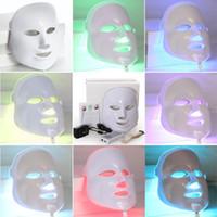 Wholesale Korean Facial Masks - TM-LM003 NEW Korean Photodynamic LED Facial Mask Home Use Beauty Instrument Anti acne Skin Rejuvenation LED Photodynamic Beauty Face Mask