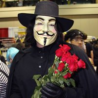 Wholesale Guys Wedding Dresses - New V for Vendetta Mask Guy Fawkes Anonymous Halloween Masks fancy dress costume Free Shipping XL-T59