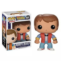 Wholesale ship figure head for sale - Group buy Funko Pop Back To The Future Marty Mcfly Dr Emmt Brown Bibble Head Action Figure New Box For Car Decoration
