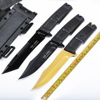 Wholesale Extrema Ratio Survival Knife - VENOM VENOM EXTREMA RATIO Bowie knife N690 blade material 58HRC hardness Thermoplastic elastomer rubber handle tactical survival knife util