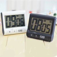Wholesale Large Count Down Clocks - New Large LCD Digital Kitchen Timer Count-Down Up Clock Loud Alarm Black White