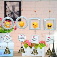 Wholesale lighting pendants bamboo - Cartoon Emoji Wind Chime English Letter Resin Aeolian Bells Creative Home Decor Pendant Gift For Kid 6 3ky C R