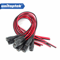 UNITOPTEK 5.5 * 2.1 mm Female Plug 12V DC Power Pigtail Cabo Jack Para CCTV Security Camera Connector Cabo Sistema de vigilância