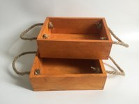Wholesale Wholesale Small Trays - D19XH6CM(D7.5*H2.4inch) Mini wooden pot wood fence planter garden Tray for small Planter Succulent Box