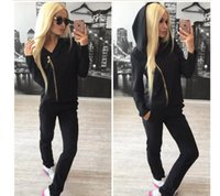 Wholesale Casual Pants Slim Sport Leisure - pink Brand Tracksuit Women Sport Suit Hoodie Sweatshirt+pant Jogging Sportswear Leisure Two-piece Size S-xl Moletom Tracksuit