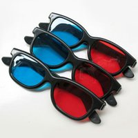 Wholesale Dvd Theater - 1pcs Red & Blue 3D glasses three dimensional Glasses PC+AC for 3D DVD Home Theater Movie Cinema Game Projector free shipping