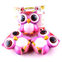 Wholesale stress relief keychain resale online - Jumbo Squishies Slow Rising Squishy Toy Owl Squishy Phone Charms Relieves Stress Toy Decompression Toy Charms KeyChain Free DHL