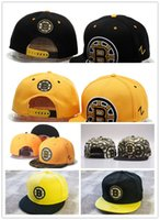 New Design Hot Sales Boston Bruins Baseball Snapbacks Baseball Cap Logo brodé de l'équipe Cap Sport Fit Hats Bonnet ajustable