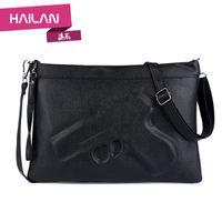 Wholesale Designer Handbag Clutch Ladies Chain - Wholesale-2016 New Vintage Designer Women's handbags Shoulder Messenger Bag 3d gun Clutch PU Leather Pistol Bag Chain Ladies Crossbody