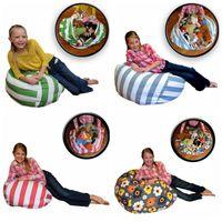tapis de jouets pour bébés achat en gros de-4 Couleurs 43cm Stockage Sacs De Haricots Pouf Chaise Chaise Enfants Chambre Peluche Animal Poupées Organisateur En Peluche Jouets Buggy Sacs Bébé Play Mat