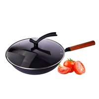 Wholesale Gas Wok - 32*32cm Non-stick Layer Pan Deep Wok Frying Pan High Quality Flat Bottom Cookware Use for Gas and Induction Cooker