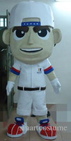 Wholesale Tennis Mascot Costumes - SX0727 100% positive feedback a tennis boy mascot costume with a white shirt for adult to wear