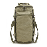 Wholesale Army Style Camping Backpack - 5 Colors Backpack Canvas Outdoor Trekking Tactical Camping Military Sports Rucksacks Backpacks Europe Popular Travel Shoulder Bag