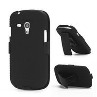 Wholesale Clip Case S3 Mini - Hot Sell Black Belt Clip Swivel Kickstand Holster Case Cover For Samsung Galaxy S3 mini i8190 free ship