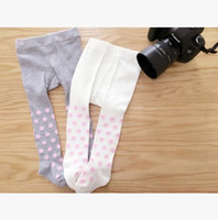 Wholesale Korean Girl S Clothing - children cotton leggings Korean Polka Dots girls winter leggings Autumn Fashion Dot baby girl tights Kids legging Babies Clothes 7209