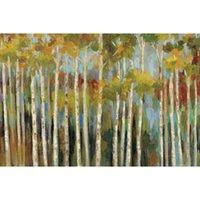 pinturas forestales pinturas al óleo al por mayor-Arte de Silvia Vassileva Pinturas Reproducción al óleo del lienzo del bosque joven Pintado a mano de alta calidad