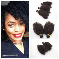 Wholesale Cheap Weaving Head - 35g pcs Cheap Price! Unprocessed Brazilian Hair 8-30inches kinky curly Hair Weave Full Head Human Extensions G-EASY