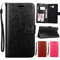 Wholesale Leather Id Flip Case - For New Galaxy 2016 A3 A5 Crazy Horse Retro Leather Wallet Phone Case Cover With ID Card Holder Flip for Samsung A310 A510
