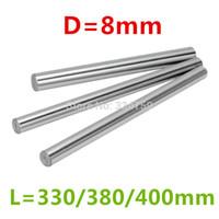 haste linear cnc venda por atacado-Atacado - comprimento três: 330/380 / 400mm para 8mm eixo da haste linear LM8UU peças CNC peças de impressora 3D
