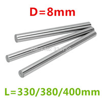 cnc lineare stange groihandel-Großhandels- Drei Länge: 330/380 / 400mm für 8mm lineare Stabwelle LM8UU CNC Teile 3D Drucker Teile