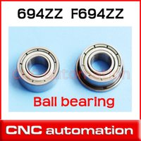 Wholesale Z ZZ MM chrome steel deep groove bearing radial F694ZZ S694ZZ stainless flange bearing