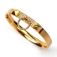 Wholesale Titanium Bracelets For Mens - Fashion Brand Titanium Steel Bracelets Luxury Kelly bangle bracelet For Women Mens Jewelry 1pcs drop shipping
