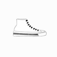 Wholesale Leather Shoes Wholesalers China - Sample Canvas Shoes White Black Enamel Pins Collar Hat Lapel Pin Brooch For Women and Girls