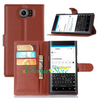 Wholesale Hard Cover For Blackberry - For Blackberry Leap Priv Passport silver edition Litchi Skin Flip Wallet Soft Leather Case Stand Holder Hard Cover Card Cases