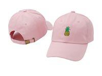 Wholesale Bone News - 2017 News Style bone Curved visor Casquette baseball Cap women gorras Bear dad Pineapple hats for men hip hop Snapback Caps High quality