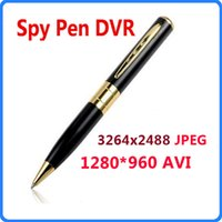Câmera de caneta HD escondida mais vendida 30fps 1280 * 960 AVI Spy Pen DVR Pen Camera Camcorder Suporte Micro SD TF Card WIN8 SO