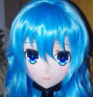 crossdresser japonés al por mayor-(C2-041) Máscara facial de goma de silicona para mujer hecha a mano Cosplay Máscara Kigurumi Crossdresser Doll Kigurumi KIG Anime japonés Juego de rol de anime