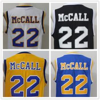 Wholesale Short Viscose - Quincy McCall LOVE and Moive Jerseys 22 Quincy McCall Crenshaw High School Jersey Cheap S-XXL Black Blue Yellow White