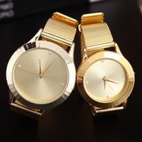 Wholesale Nude Couples - Popular Fashion TM. Brand women's men's couples Lovers' Steel metal band quartz H wrist watch
