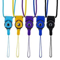 flash-laufwerksketten großhandel-Universal Abnehmbare Lanyard Handy Hals Lany Ring Lanyard Hanging Charms Sicherheitskette Abzeichen Für Handy MP3 / 4-Sticks ID-Karte