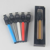 Wholesale Ecigarette Chargers - 510 Thread Buttonless Glod Color Stylus Vape Pen Battery 280mah Auto Open Vaporizer Bud Touch Oil Batteries with eCigarette USB Charger