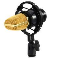 micrófono de choque al por mayor-Profesional BM-700 Condensador KTV Micrófono BM700 Cardioide Pro Audio Studio Grabación vocal Micrófono KTV Karaoke + Montaje de choque