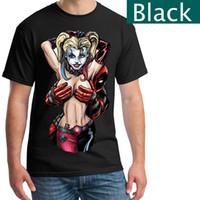 Wholesale Deadpool T Shirt - Harley Quinn & Deadpool T Shirt, Men's T-shirts in different colors, Cool Suicide Squad T-Shirts