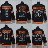 Wholesale Black Women Spandex - Kid Youth Hockey Jersey Women Philadelphia Flyers 2017 Stadium Series 9 Ivan Provorov 17 Wayne Simmonds Claude Giroux 53 Shayne Gostisbehere