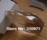 colgante araña bola de cristal al por mayor-25 piezas de araña de cristal de 76mm / lote y piezas de iluminación de cristal para colgar la bola ovalada de facetas de cristal colgante