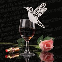 Wholesale Table Cards For Weddings - New 2016 White Bird Place Name Card Escort Card Cup Card Wine Glass Card Seat Card For Wedding Party Favors Table Decorations supplies