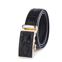 Wholesale Leather Belt Name Brands - Best quality designer brand name fashion Men's Business Waist Belts Automatic buckle Genuine Leather belts For Men 105-125cm free shipping