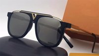 Wholesale Sunglasses Plate - The latest popular fashion men designer sunglasses 0937 square plate metal combination frame top quality anti-UV lens with original box