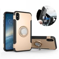 Wholesale rugged cars for sale - Magnetic Ring Stand Car Suction Bracket Rugged Case for iPhone X XR XS Max Samsung S7 Edge S8 S9 Plus Note J3 J5 J7 Pro J2 Prime
