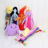 Wholesale Stuffed Princess Toy - NEW 14~33cm Adventure Time Plush Lemongrab Princess Marceline Lumpy Space Bonnibel Bubblegum Flame Princess Plush Toys stuffed doll