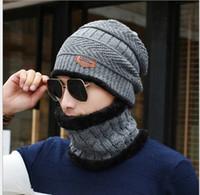 Wholesale ear cuffs men - 2017 Autumn and winter hat and Collar keep warm inside velvet ear cuff high qulaity SK88