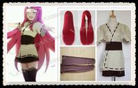 Wholesale Naruto Belts - Wholesale-New Naruto Kushina Uzumaki Cosplay Costume Coat Skirt Belt Wig